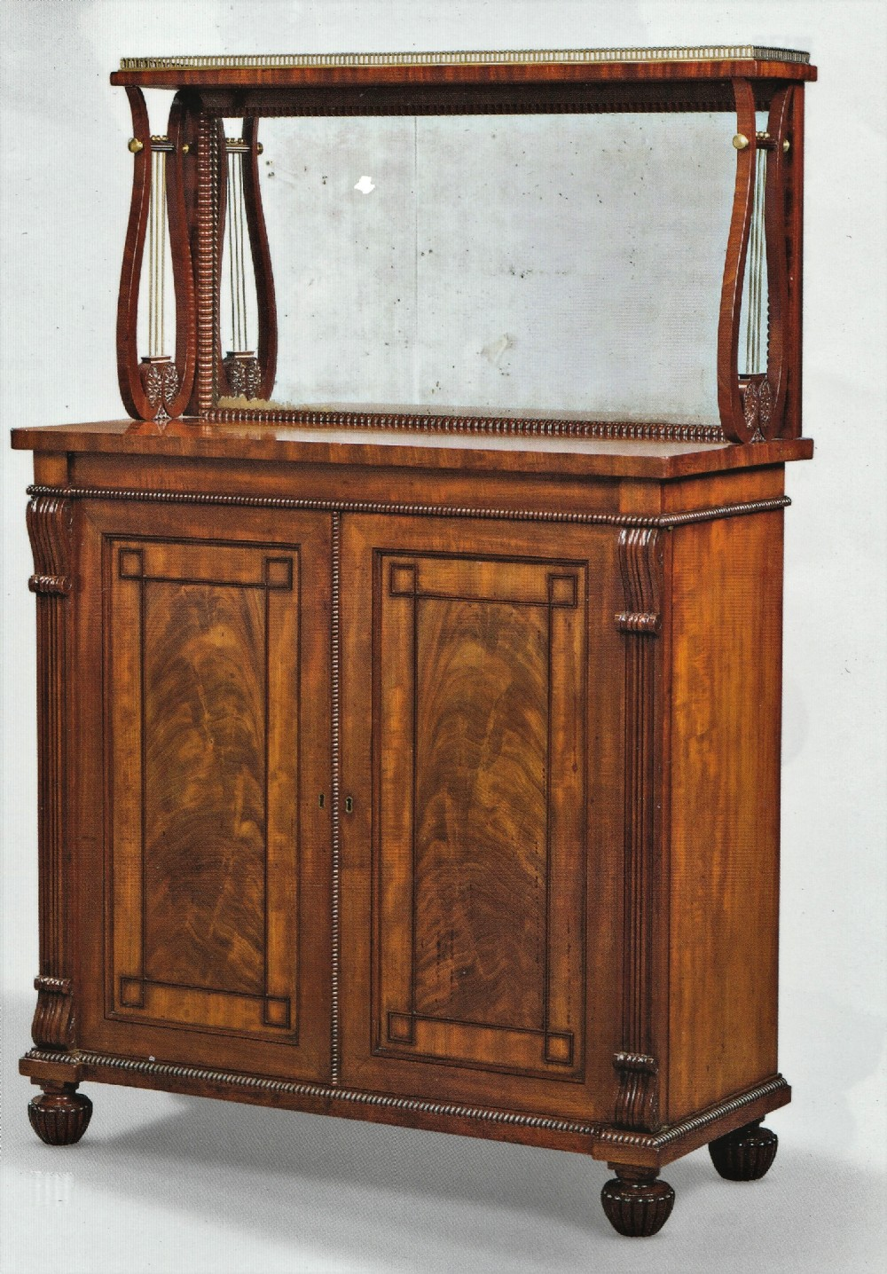 regency gillows mahogany side cabinet chiffonier