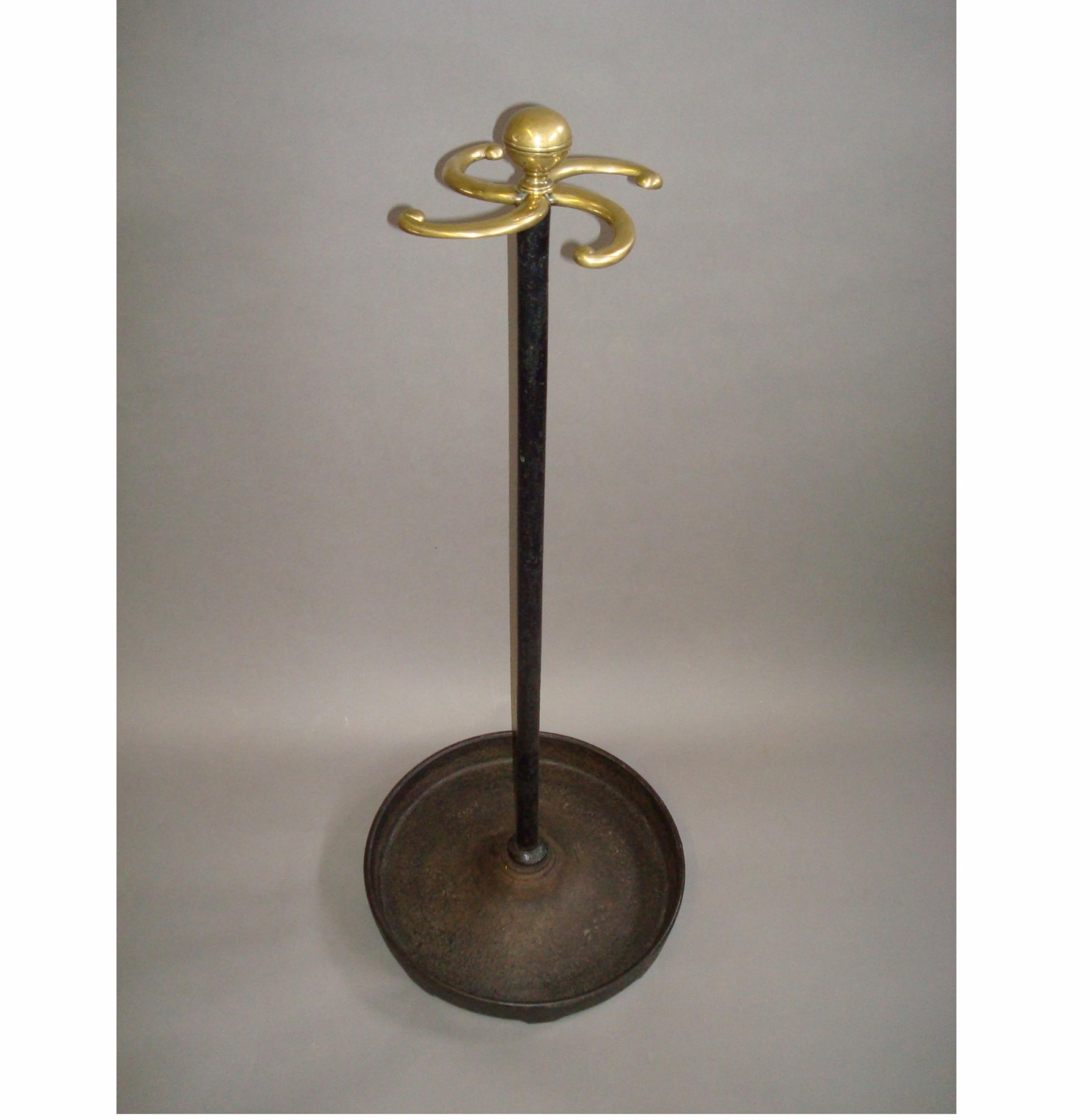 regency cast iron brass stick stand tall proportions