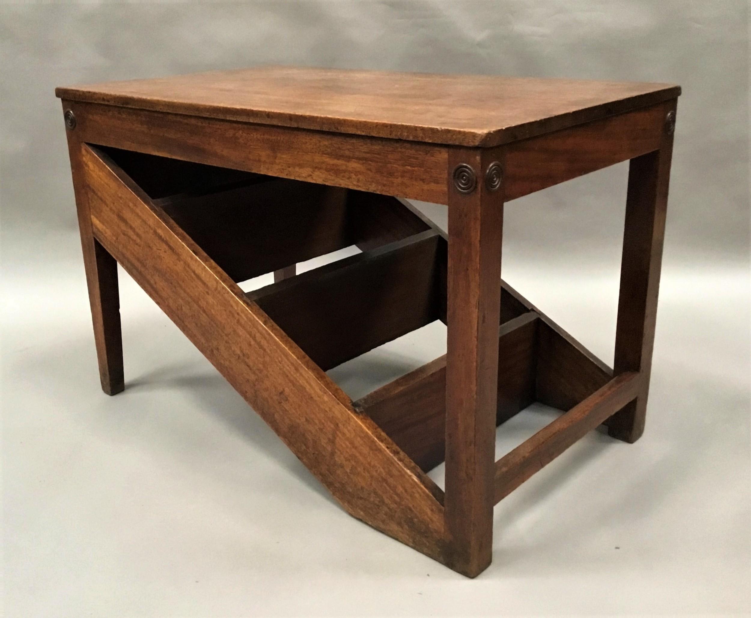 george iii mahogany metamorphic library steps table stool