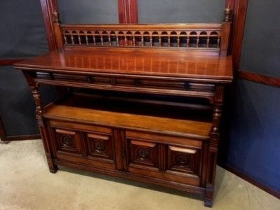 a late 19th century aesthetic movement arts crafts style walnut buffet made by gillow co circa 1890