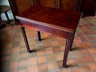 a late 18th century george iii mahogany foldover tea table circa 1780