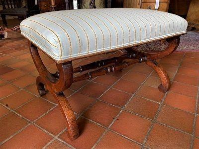 william iv early victorian mahogany x frame stool circa 1835