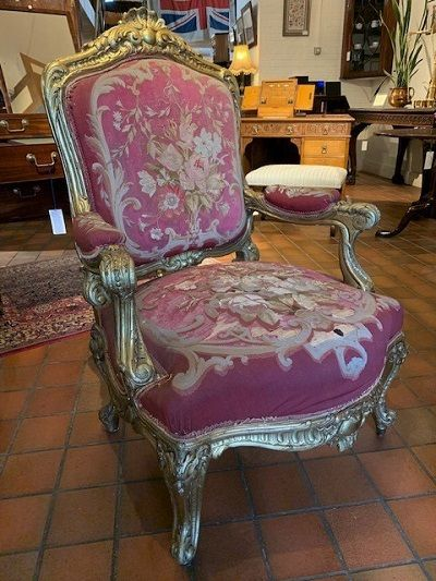 a mid 19th century french louis xv style giltwood armchair circa 1860