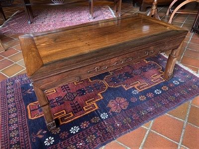 a good quality early 20th century chinese hardwood low opium table circa 1920