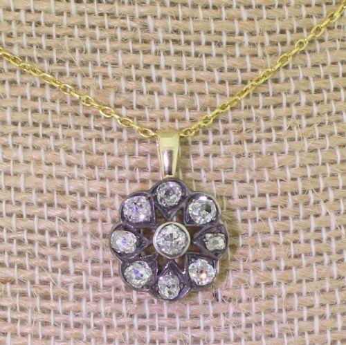 victorian 120 carat old cut diamond cluster pendant circa 1880
