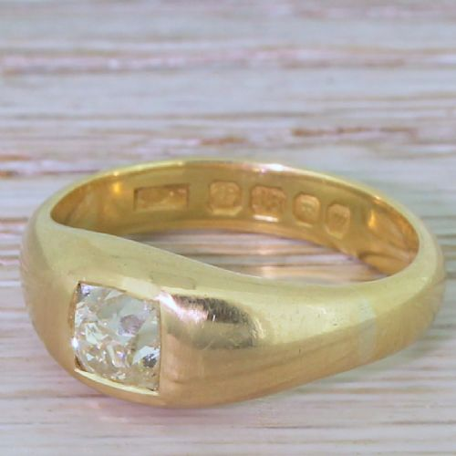 victorian 095 carat old cut diamond solitaire ring circa 1900