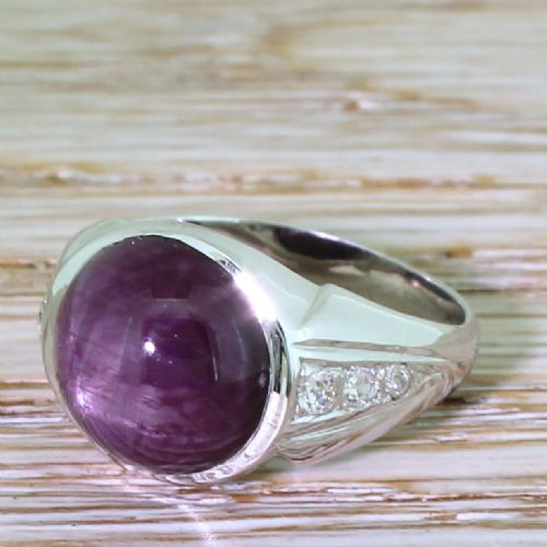 art deco 1043 carat cabochon ruby solitaire ring circa 1940