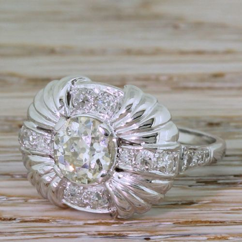 art deco 198 carat old cut diamond cluster ring circa 1940