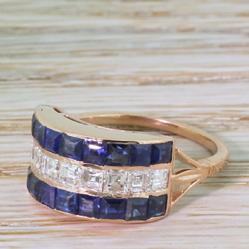 art deco 200 carat sapphire 100 carat carr cut diamond ring circa 1915