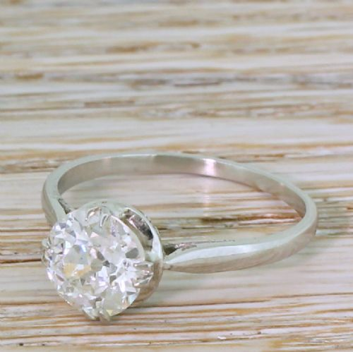 art deco 151 carat old cut diamond engagement ring circa 1920