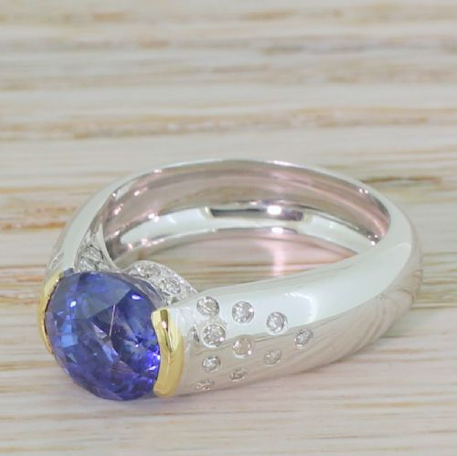 late 20th century 358 carat sapphire solitaire ring french