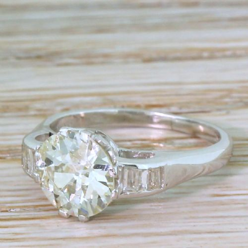 art deco 170 carat old cut diamond engagement ring circa 1930