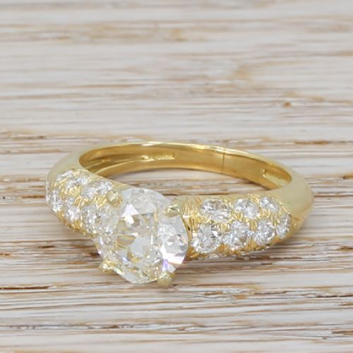 mid century 177 carat old cut 120 carat diamond ring circa 1960