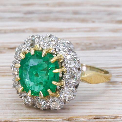 art deco 235 carat emerald 096 carat diamond ring circa 1930