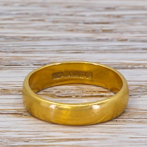 mid century 22k yellow gold wedding band dated 1966
