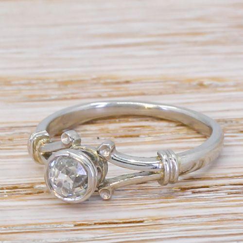 edwardian 055 carat old cut diamond engagement ring circa 1910