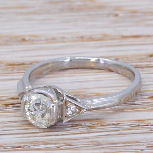 art deco 061 carat old cut diamond engagement ring circa 1935