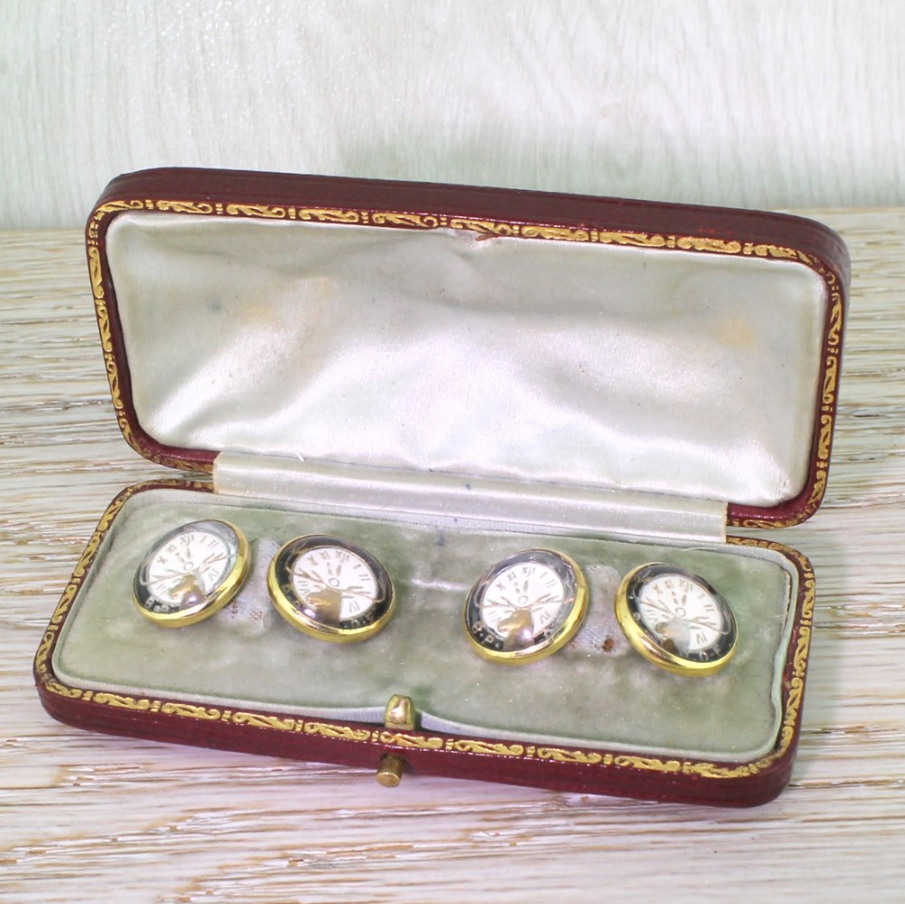edwardian essex crystal elks lodge cufflinks boxed circa 1910