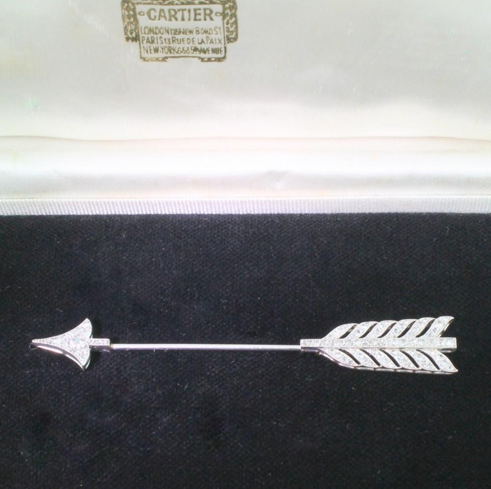cartier belle poque rose cut diamond jabot pin circa 1910