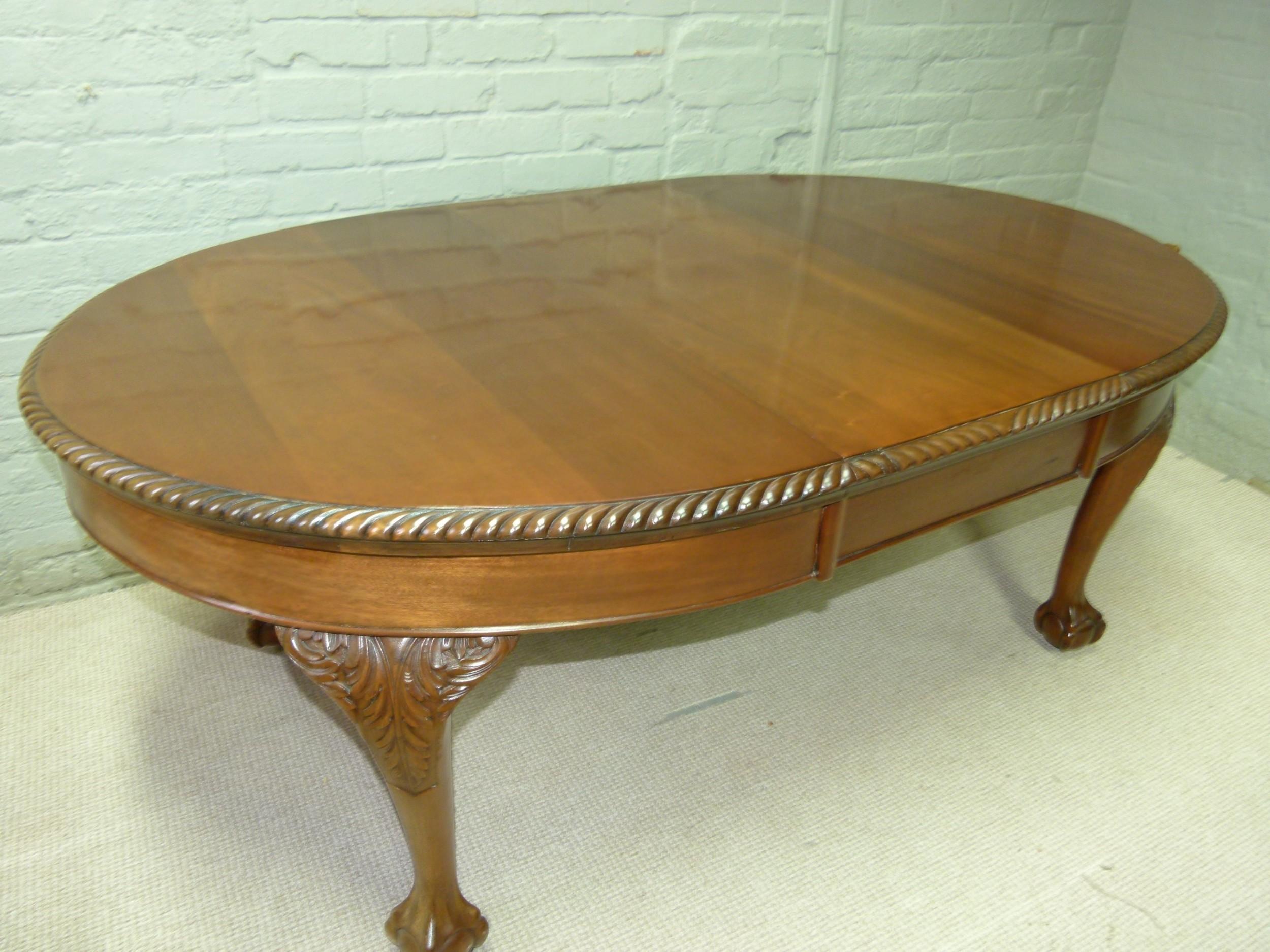 mahogany ball and claw dining table