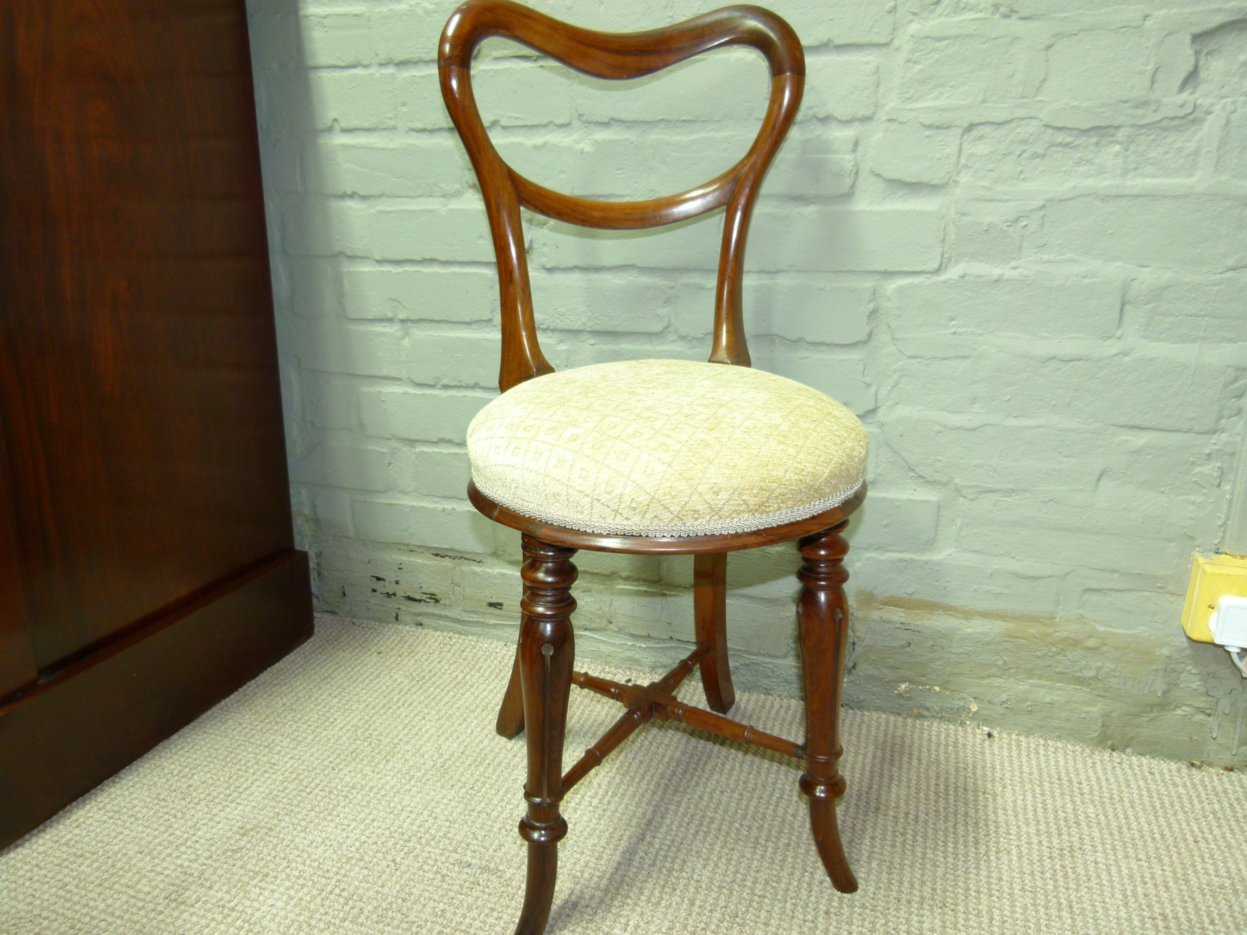 rosewood music chair