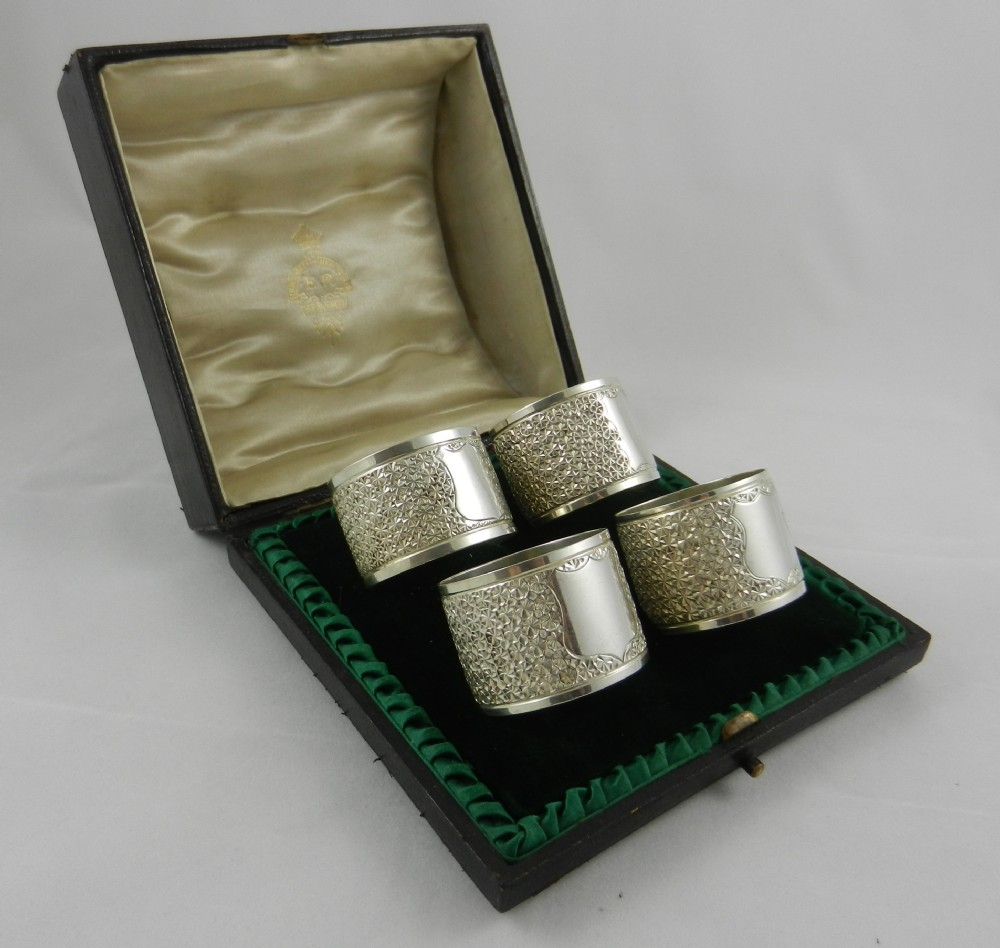 antique silver napkin rings