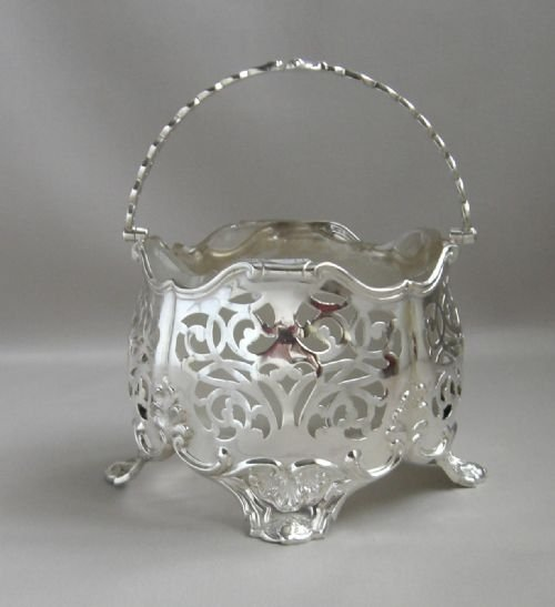 antique silver sugar baasket