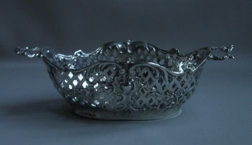 antique silver sweet dish