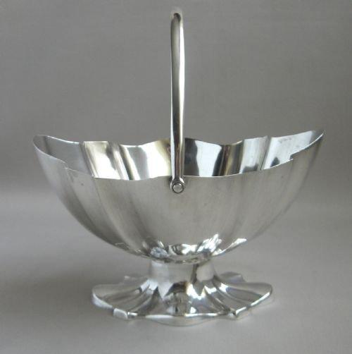 antique silver sugar basket