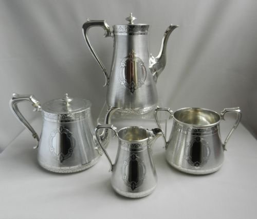 antique silver tea coffee service