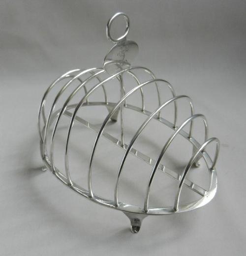 antique silver toast rack