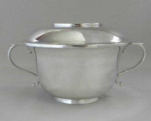 silver porringer cover