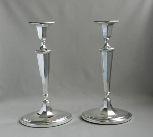 pair silver candlesticks