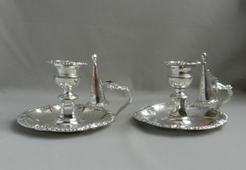 pair matthew boulton old sheffield chambersticks