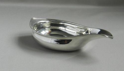 antique silver pap boat