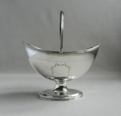 georgian silver sugar basket