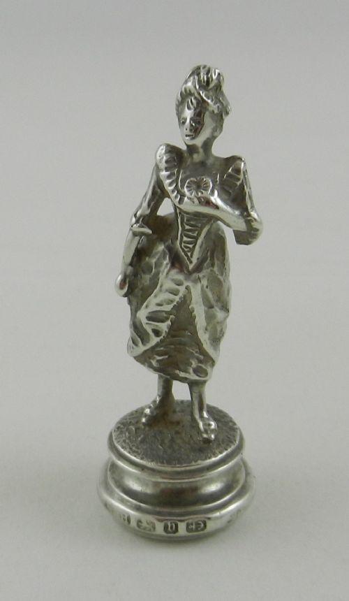 antique silver desk seal