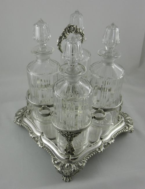 Thumbnail picture of: Georgian Silver Decanter Stand.