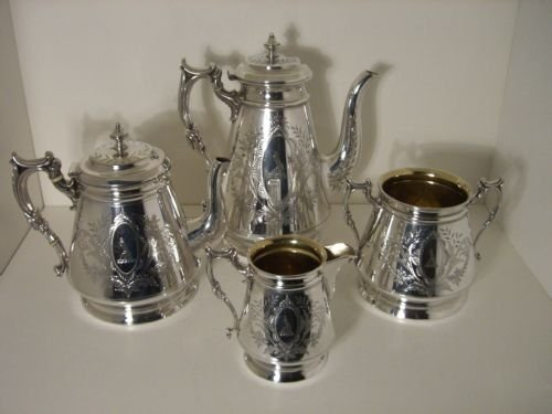 victorian plated tea and coffee service