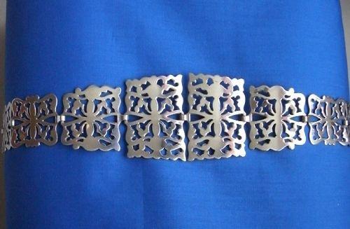 antique silver belt