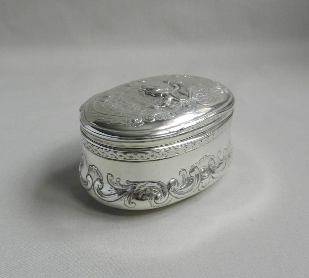 18th century silver table snuff box