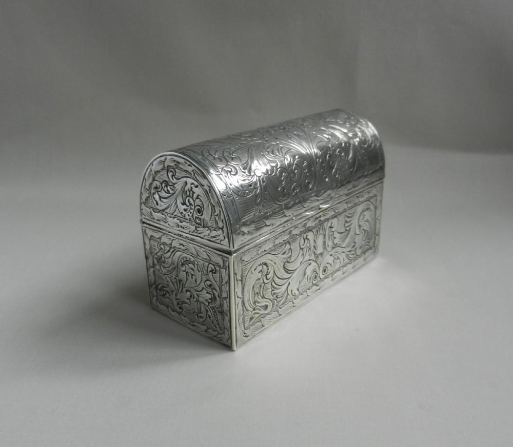 antique silver casket