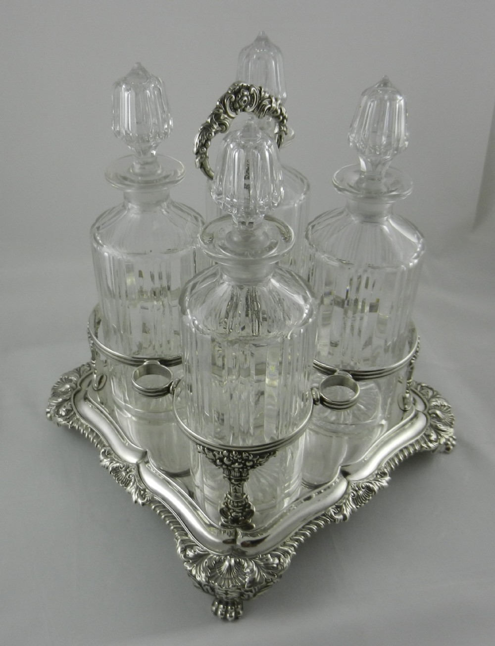 georgian silver decanter stand