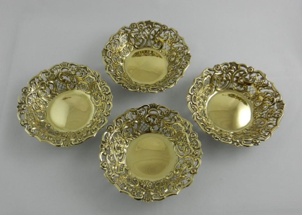 antique silvergilt bonbon dishes