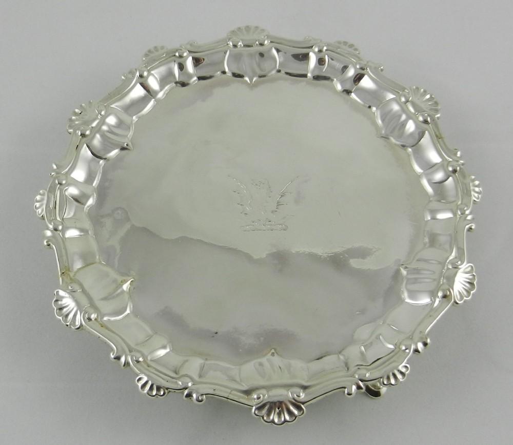 antique silver card tray