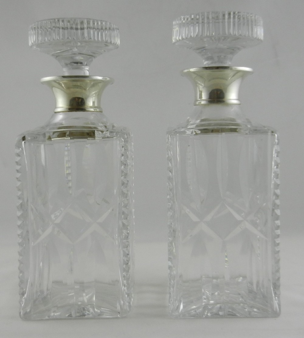 silver mounted decanters