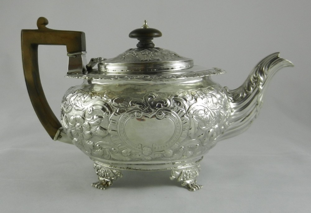 antique irish silver teapot