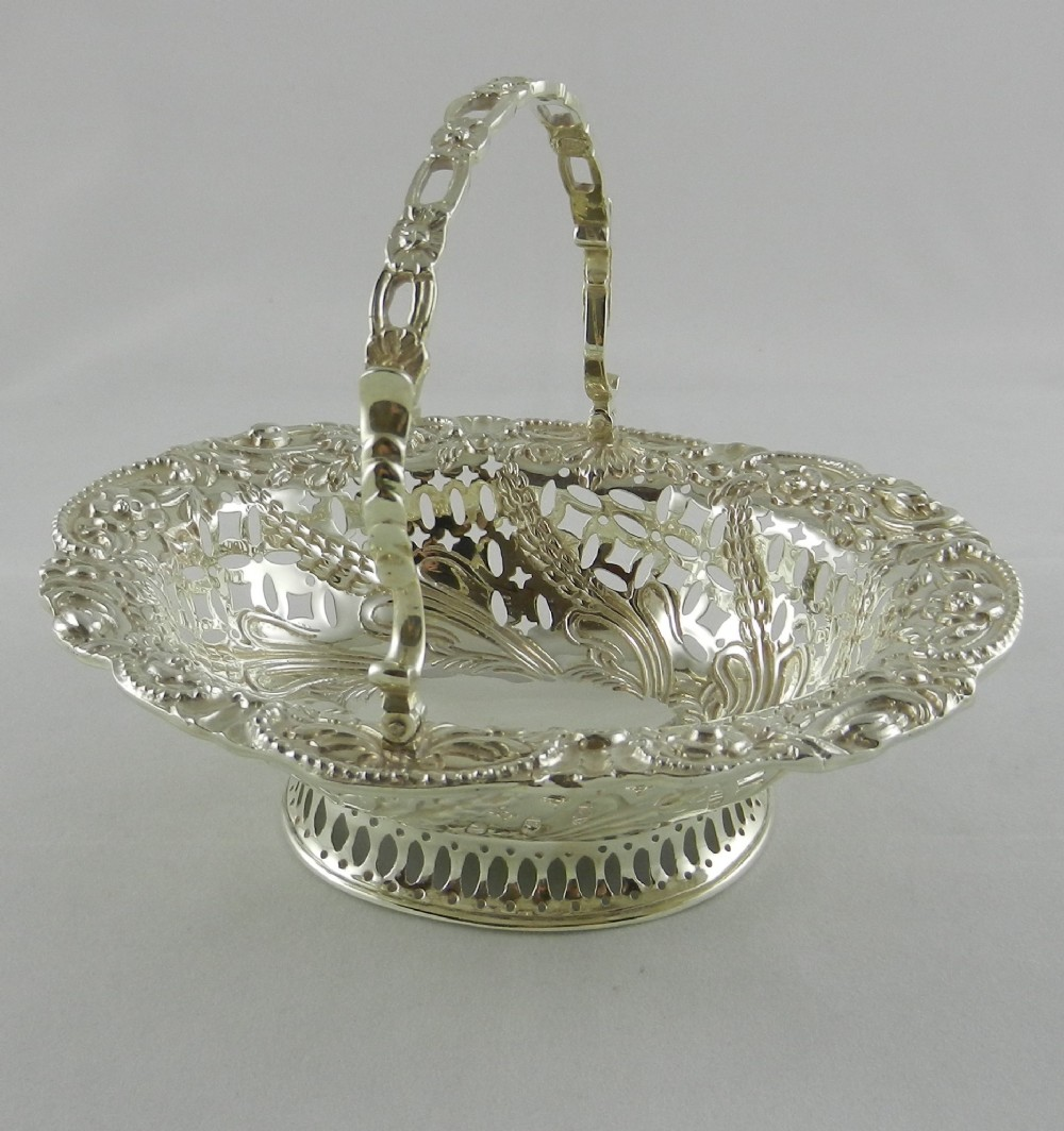 antique silver sweet basket