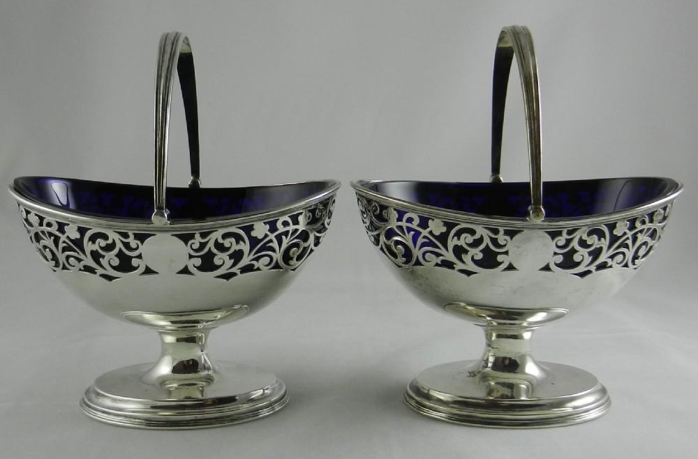 antique silver sugar baskets