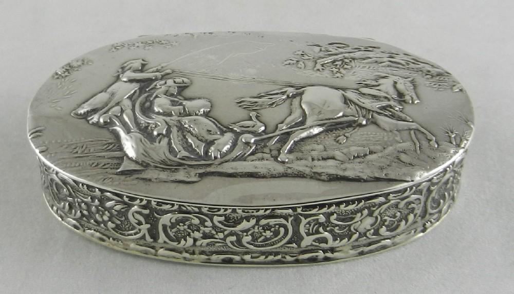 antique silver christmas box